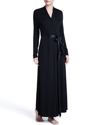 Take Me Away Long Robe, Black