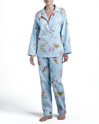 Aqua Botanical Classic Pajamas