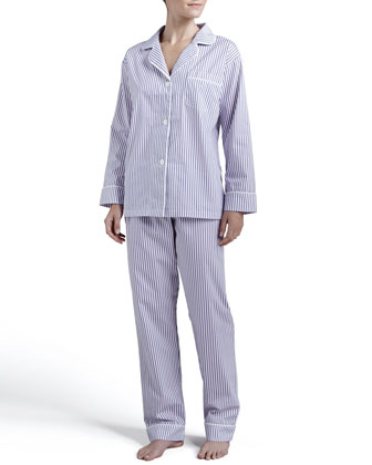 Pinstripe Classic Pajamas, Purple