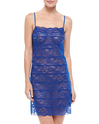 Allover Lace Chemise, Mongolian Blue