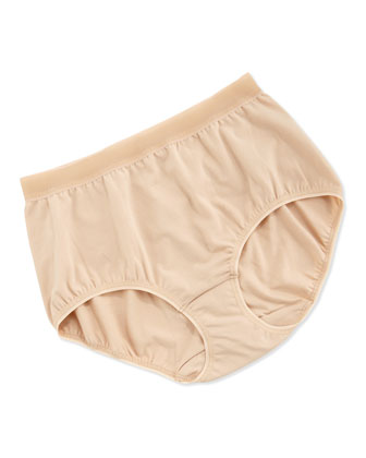 Cotton Suede Sheer Briefs