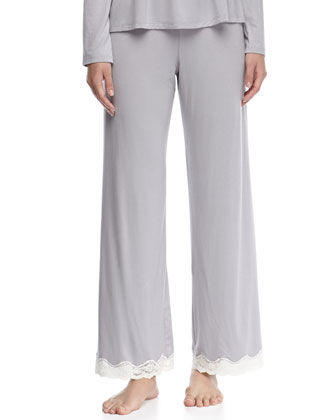 Lady Godiva Contrast-Lace PJ Pants