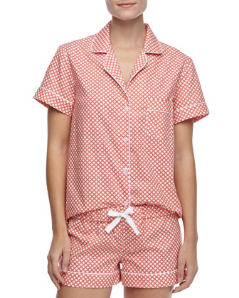 Eloise Cotton Short Pajamas, Orange