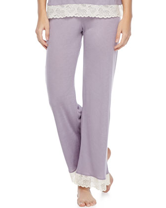 Iris Lace-Trim Lounge Pants