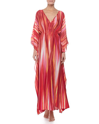 Hayworth Lounge Caftan, Azalea, Women's