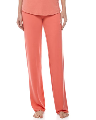 Fold-Over Pants, Coral