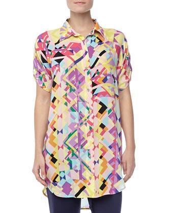 Chic Jersey Geo-Print Sleepshirt