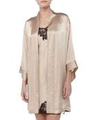 Lolita Silk Short Robe