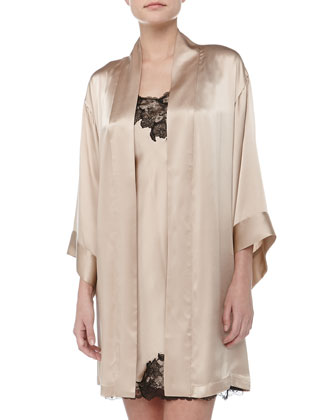 Lolita Silk Short Robe