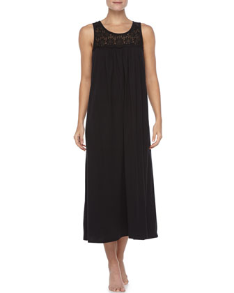 Heirloom Long Tank Gown, Black