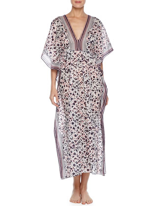 Reflections Animal-Print Caftan