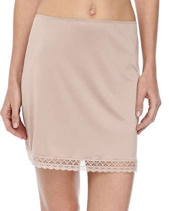 Ana Lace-Trim Half Slip, Nature