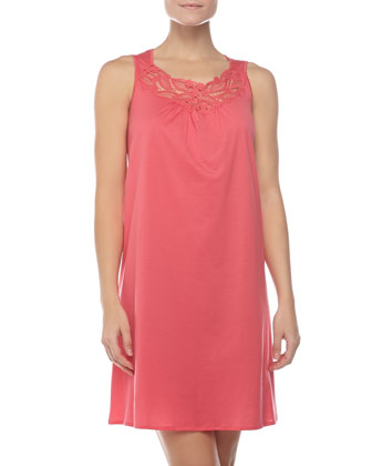 Filipa Embroidered Sleeveless Gown, Paradise Pink