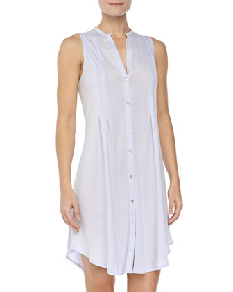 Sleeveless Shirtwaist Nightgown, Blue Glow