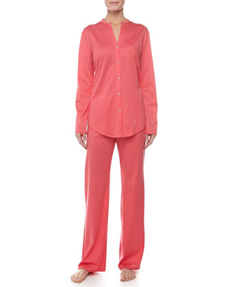 Pima Cotton Pajama Set, Paradise Pink