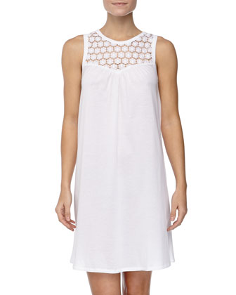 Carla Lace Tank Gown, White