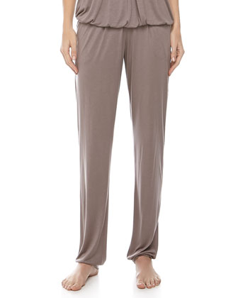 Marta Spaghetti-Strap Top & Lounge Pants, Plum