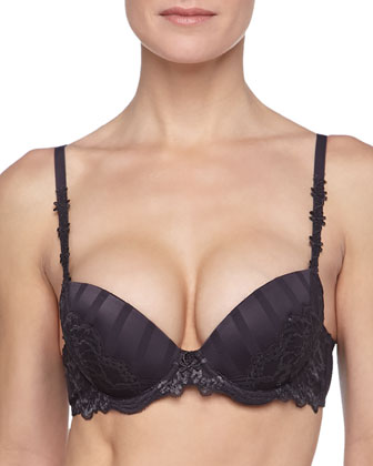 Amour Mixed-Lace Multi-Position Push-Up Bra