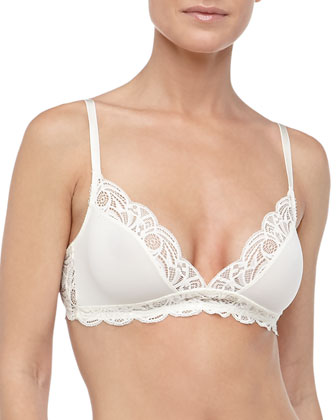 Simona Soft Lace Triangle Bra, Ivory