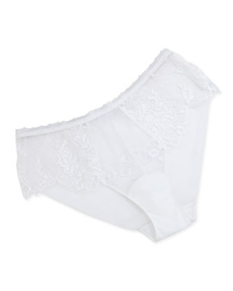 Maharani Floral Lace Briefs, White