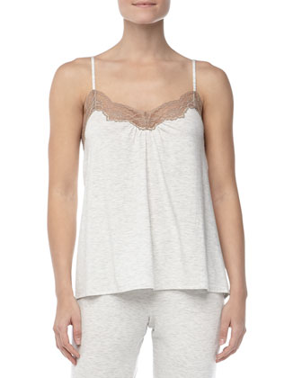 Teresa Lace-Trim Lounge Top