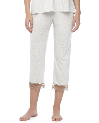 Teresa Lace-Trim Capri Lounge Pants