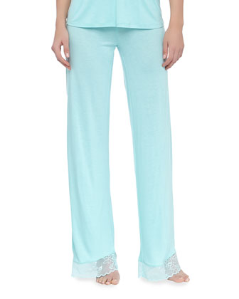 Diana Lace-Trim Pajama Pants