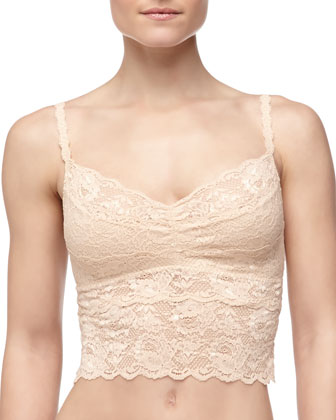 Never Say Never Cropped Lace Cami