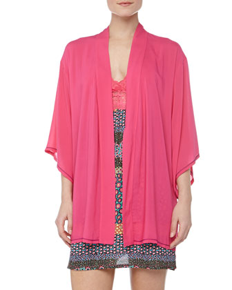 Chic Trimmed Happy Wrap, Cosmo Pink