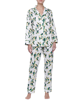 Cabana Birds Sateen Pajamas