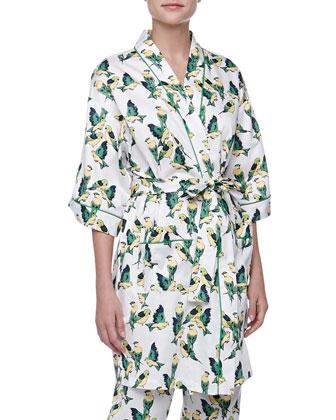 Cabana Birds Kimono Robe