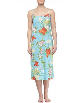 Peranakan Floral Print Long Gown