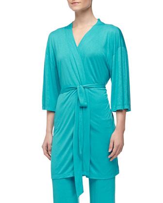 Summer Kimono Robe, Turquoise