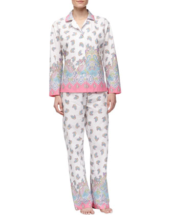 Paisley-Print Poplin Pajamas