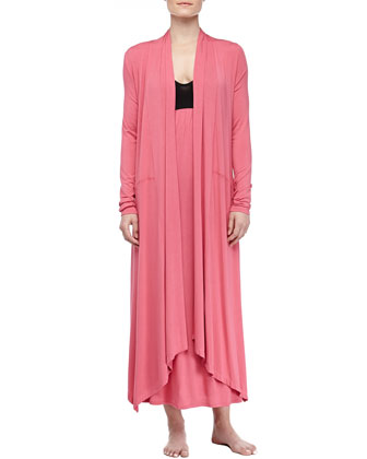 Liquid Jersey Wrap Robe, Rose Quartz