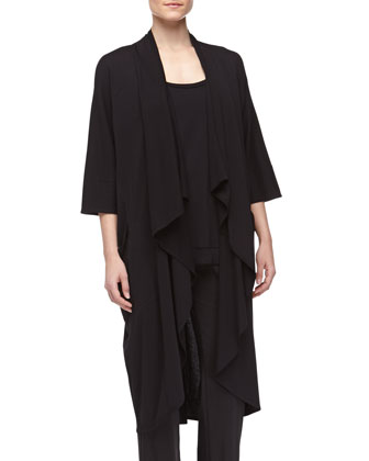 Pima Cotton Oversized Cozy, Black