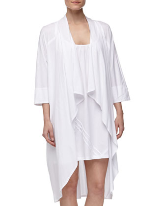 Pima Cotton Oversized Cozy, White
