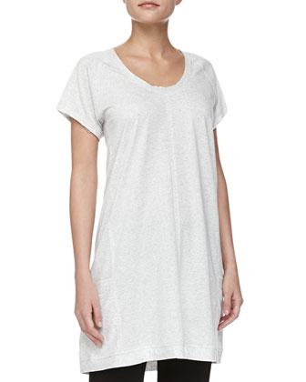 Pima Cotton Short-Sleeve Sleepshirt & Drawstring Capri Pants