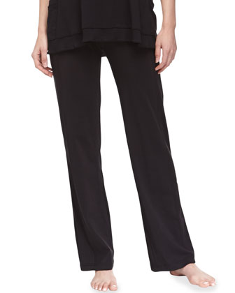 Pima Cotton Lounge Pants, Black
