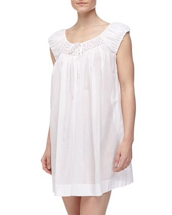 Delicate Blossoms Cotton Lawn Nightgown, White