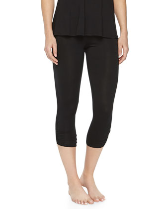 Ruched Crop Jersey Leggings