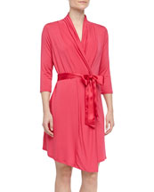 Take Me Away Travel Robe with Silk Inset Belt and Hidden Pockets, ...