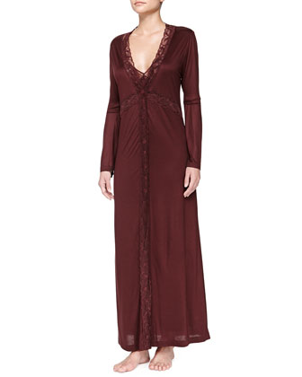 Pizzo Elastico Lace-Trim Long Robe and Gown