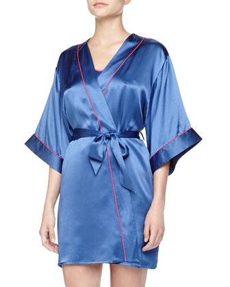 Studio Dolce Satin Short Robe and Chemise