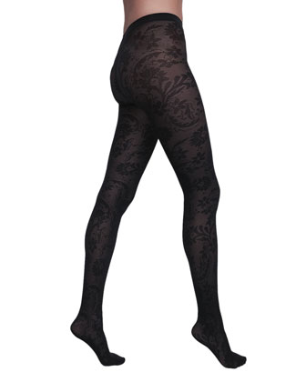 Loureen Floral Fishnet Tights