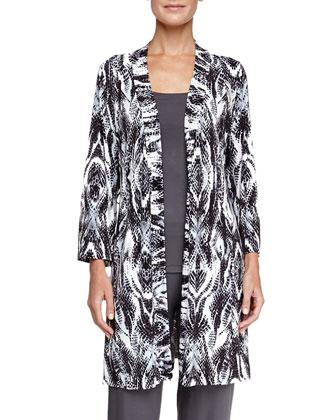 Pordenone Printed Jersey Robe