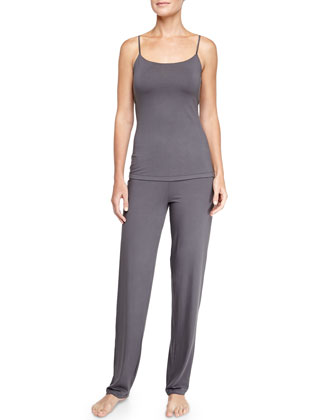 Talco Lounge Racerback Camisole & Straight-Leg Pants, Anthracite