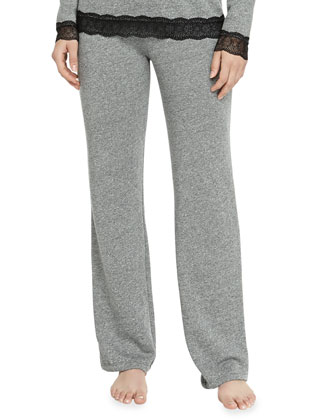 Cortina French Terry Sweatpants, Heather Gray