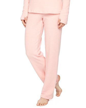 Aosta Fleece Straight-Leg Pants, Rosa Sorbetto