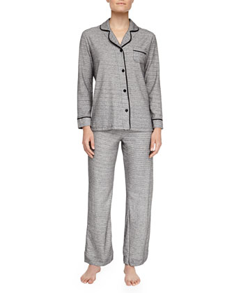 Bella Heather Pajamas, Gray/Black